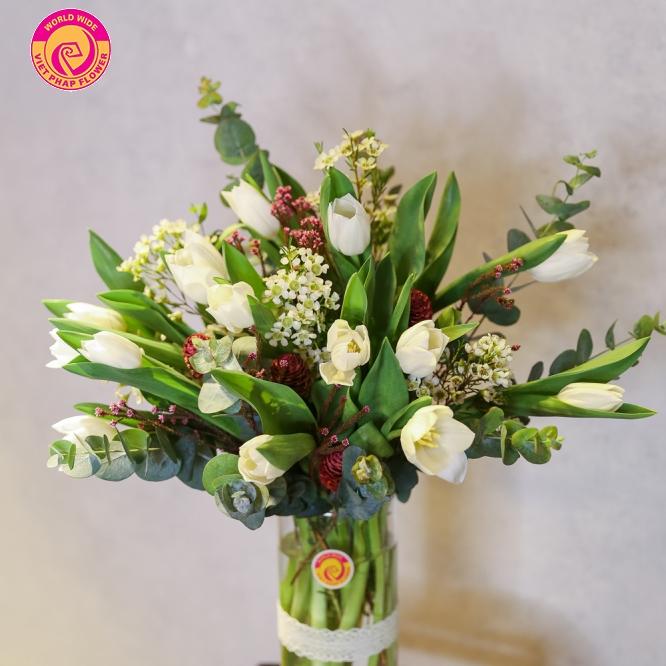 giỏ hoa bàn chúc mừng