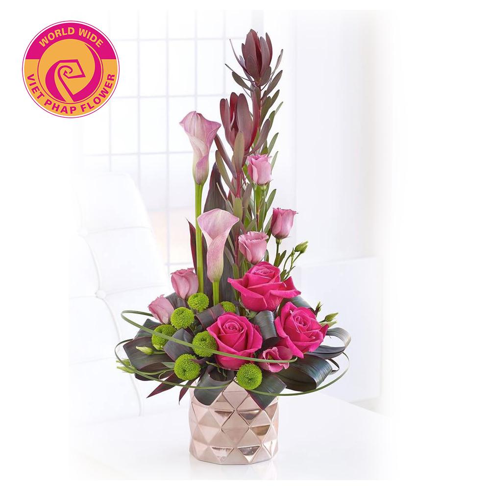 Thiết kế hoa theo chiều dọc