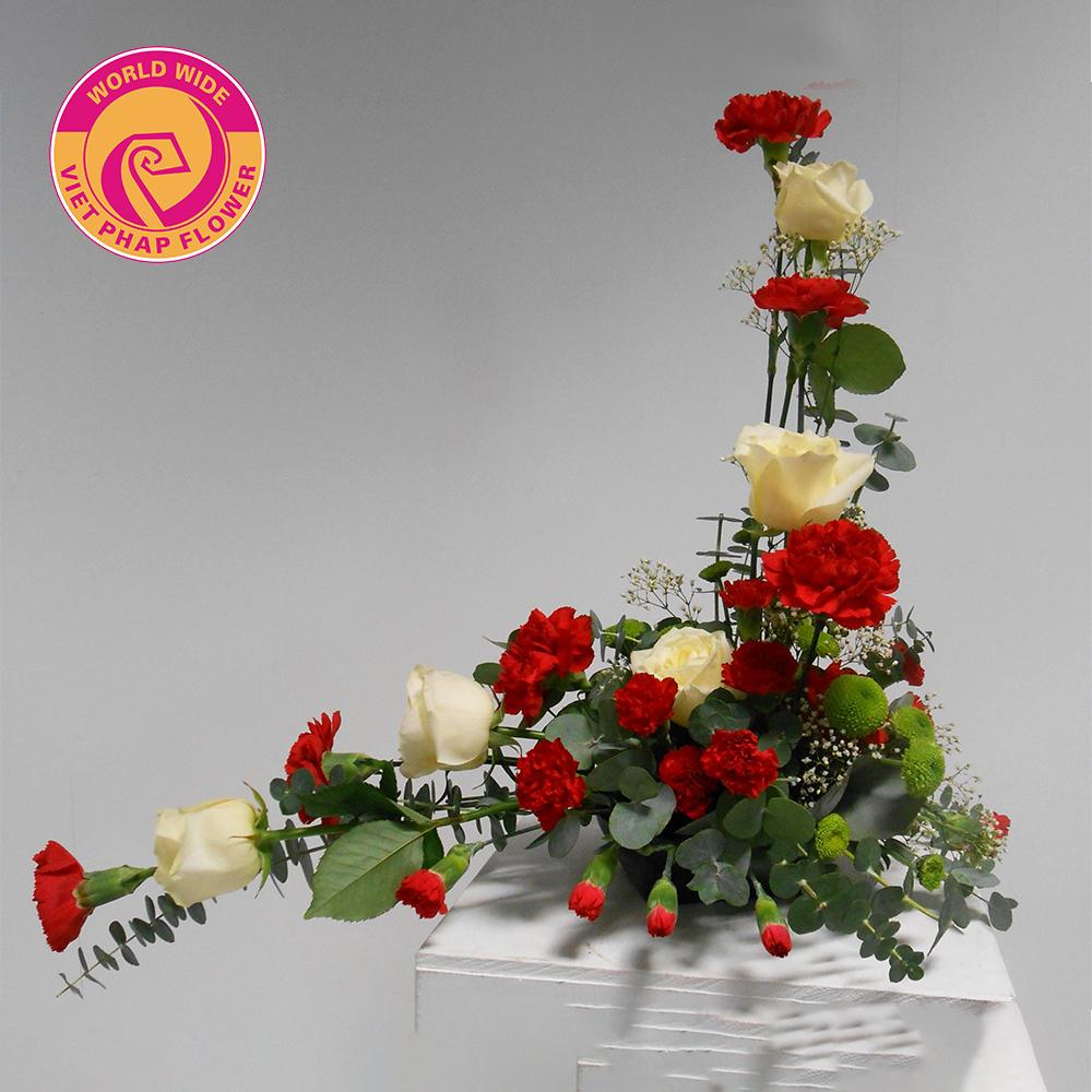 Thiết kế hoa bất đối xứng