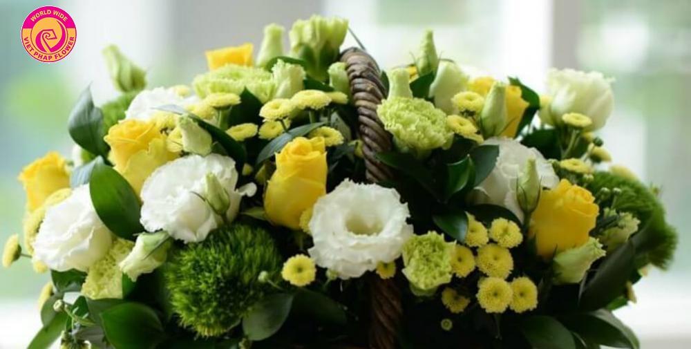 Tặng hoa sinh nhật cho phái mạnh nên chọn những gam màu mạnh mẽ