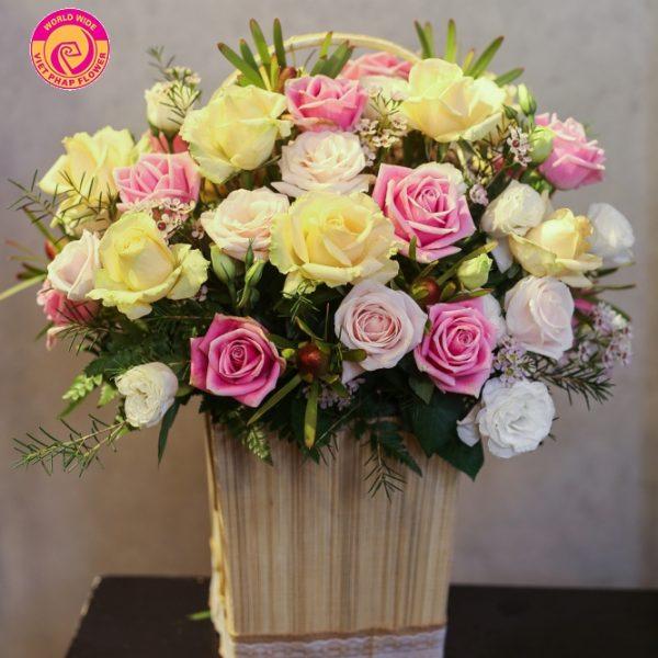 Hoa hồng được nhiều người chọn làm quà tặng sinh nhật cho phái nữ