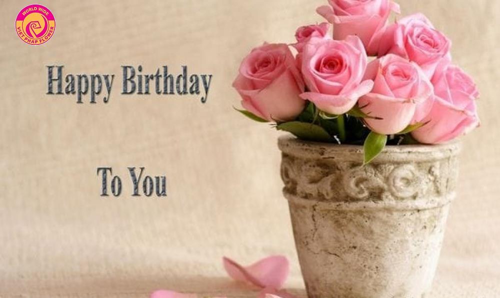 Hoa tươi là món quà tặng sinh nhật vô cùng ý nghĩa