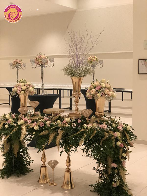 Hoa Việt Pháp trang trí tiệc cưới cho người Việt tại Berlin