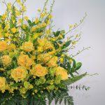 lẵng hoa để bàn