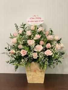 lẵng hoa để bàn đẹp