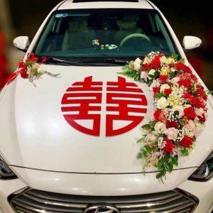 hoa xe cưới sang trọng