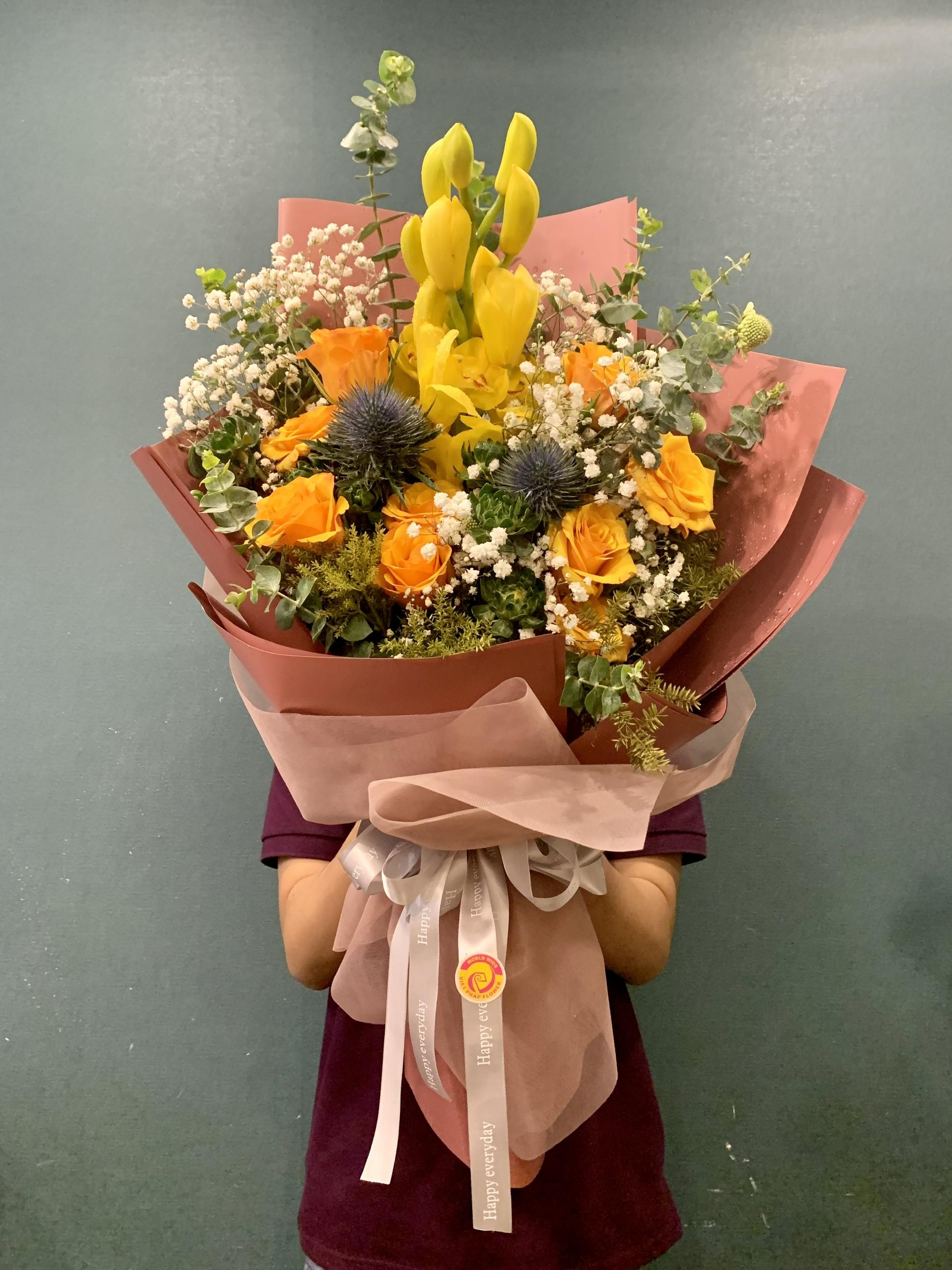 hoa bó đẹp sang trọng