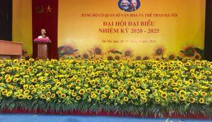 Việt Pháp vinh dự được tham gia đại hội đại biểu của Đảng Bộ Cơ Quan Sở Văn Hóa  và Thể Thao Hà Nội