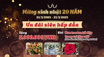 Ưu đãi hấp dẫn mừng Điện hoa Toàn Cầu Việt Pháp tròn 20 tuổi