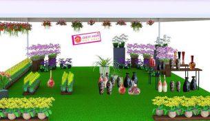 Cùng Điện hoa Việt Pháp tham gia Hội chợ hàng hóa người tiêu dùng ưa thích lần thứ 18