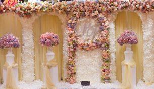 Hoa tươi trang trí tiệc cưới đẹp ở Hà Nội