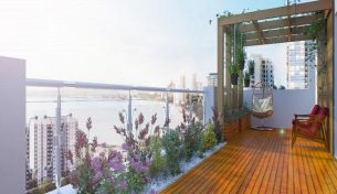 Thiết kế vườn ban công chung cư với Điện hoa Việt Pháp